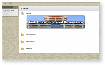 The Taskforce on Shared Governance Screenshot
