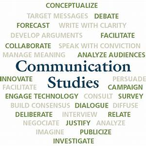 Communication Studies Word Cloud