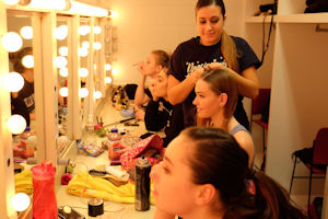 Dancers backstage