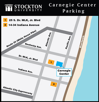 Map of Carnegie Center Parking