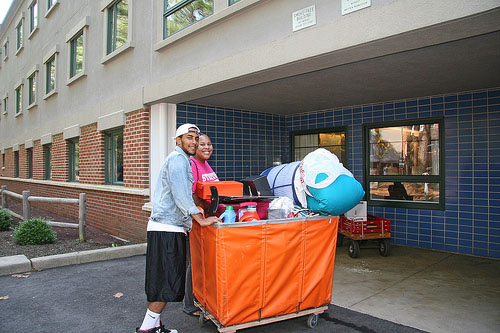 Residents on move-in day