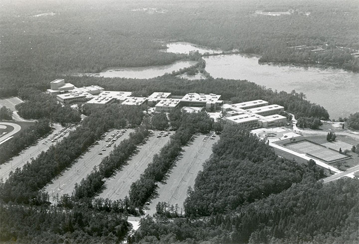 Galloway aerial campus photo from the early 80's