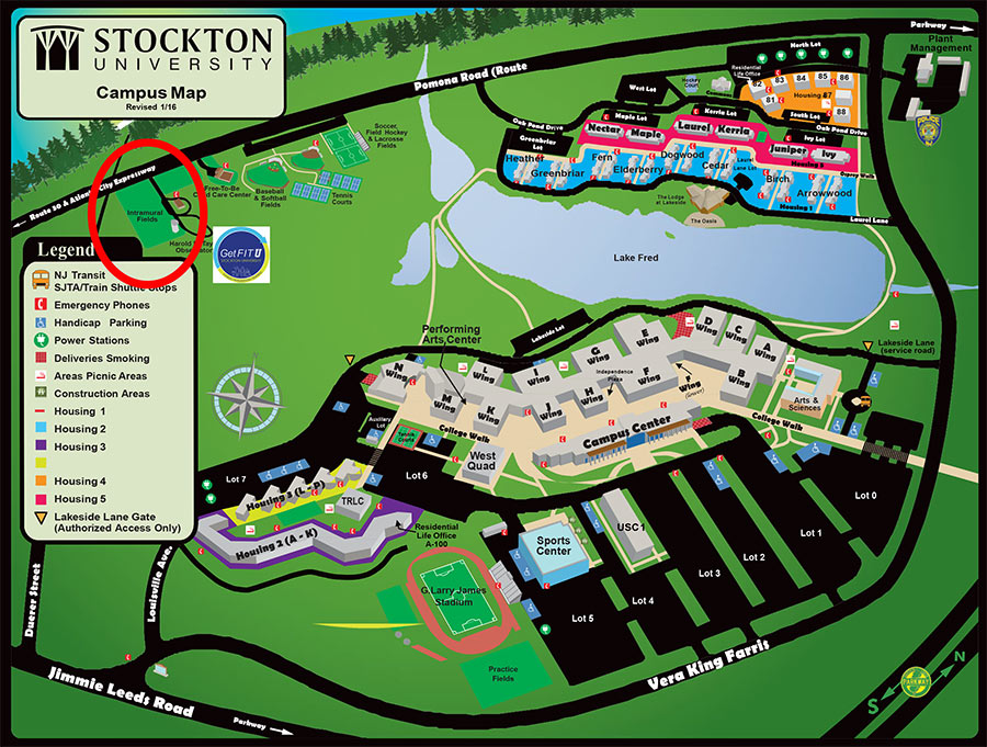 Get Fit Campus Map