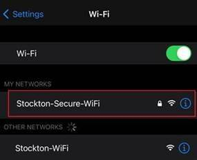 A screenshot of the wifi network menu in the iOS settings app.