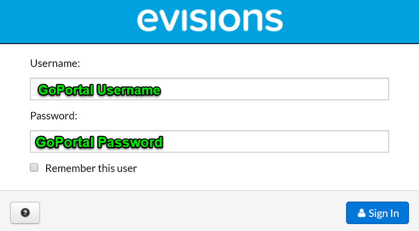 Evisions Login