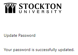 Password successfully updated