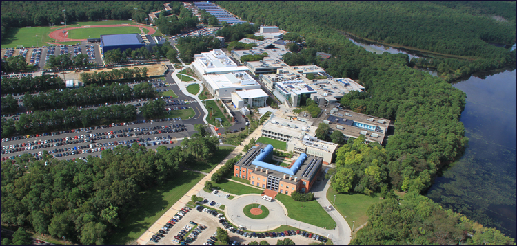 aerial photo of the campus