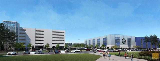 Parking Garage Structure Rendering