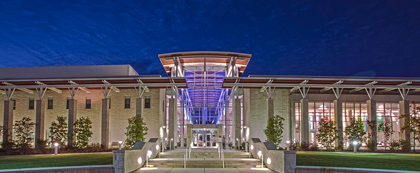 Photo of Stockton University Main Campus at Night