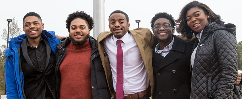 Members of the Unified Black Students Society Spring 2018