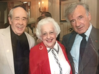 Ellen Norman Stern, center, with Elie Wiesel, right, and her late husband, Harold.