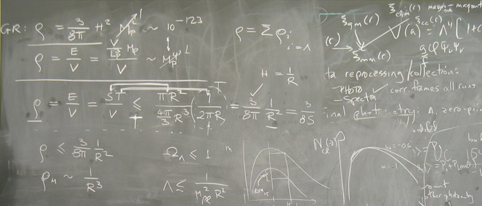 School of Natural Sciences and Mathematics Physics Blackboard