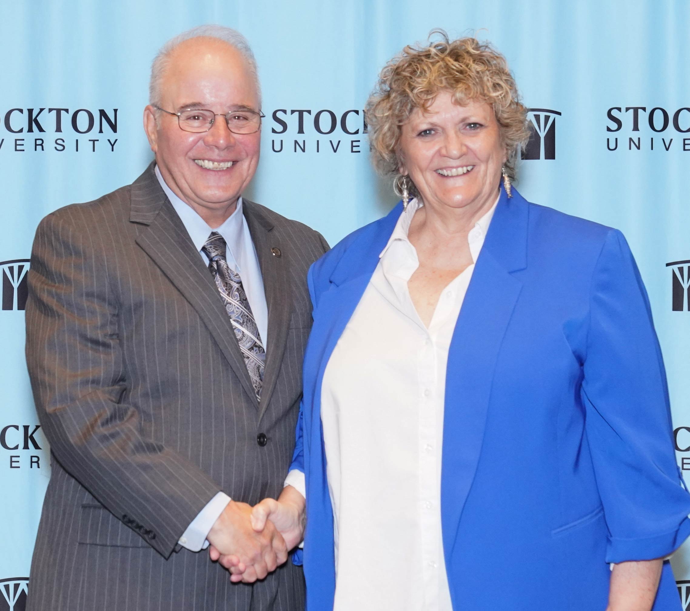 President Kesselman and Patricia Weeks