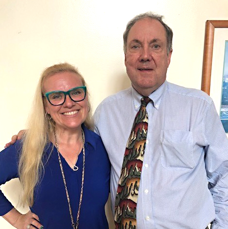 Tanya Kero with David Burdick at the Veterans Administration New Jersey Health Care System's annual Mental Health Summit on Sept. 12.