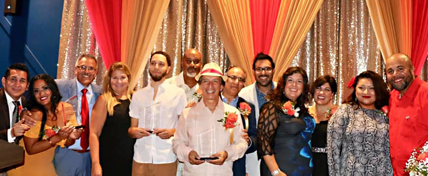 Honorees and organizers of the first Nuestro Pueblo Awards on Sept. 27 at Stockton Atlantic City.