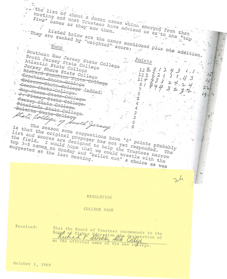 documents of the soon-to-be-formed school